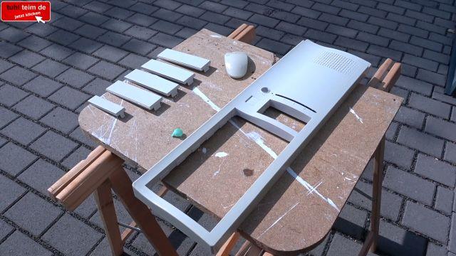 Vergilbtes Computergehäuse bleichen und reinigen - Retrobright herstellen - Plastikgehäuse / Teile in der Sonne einstreichen und lagern