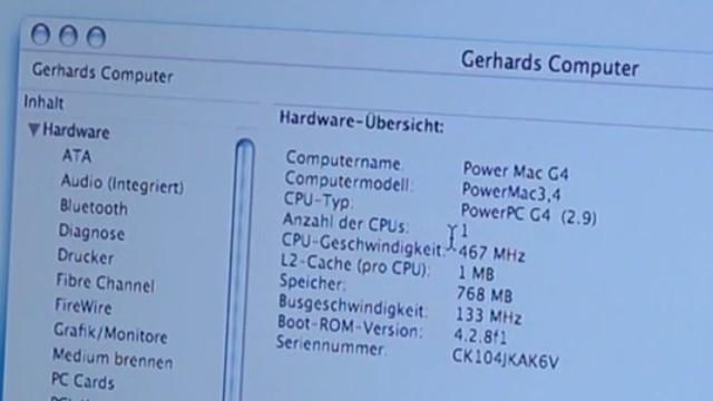Apple Power Mac G4 für wenig Geld - Mac OS X - Mac OS Classic 9.2.2 - Mac mit 467MHz und 768MB RAM