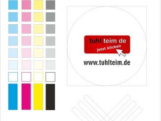 Testausdruck für Tintenstrahldrucker Tuhl Teim DE