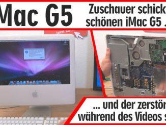 iMac G5 zerstört sich selbst während des Videos - Mainboard defekt - CPU überhitzt und stinkt