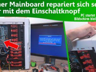 Gamer Mainboard repariert sich selbst nur mit dem Einschaltknopf - PC startet nicht