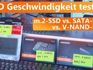 SSD Geschwindigkeit testen Windows 10 - SATA gegen M.2 Performance