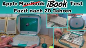 Apple iBook G3 Clamshell Blueberry Test MacOS X