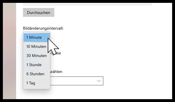 Windows Diashow Geschwindigkeit
